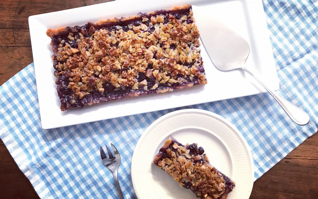 Blueberry Streusel Tart With Almond Crust